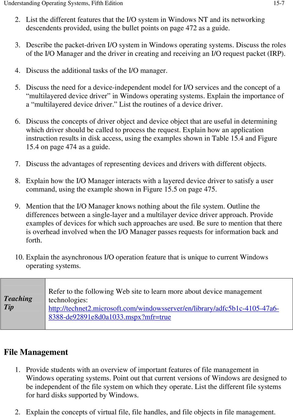 Chapter 15 Windows Operating Systems - PDF