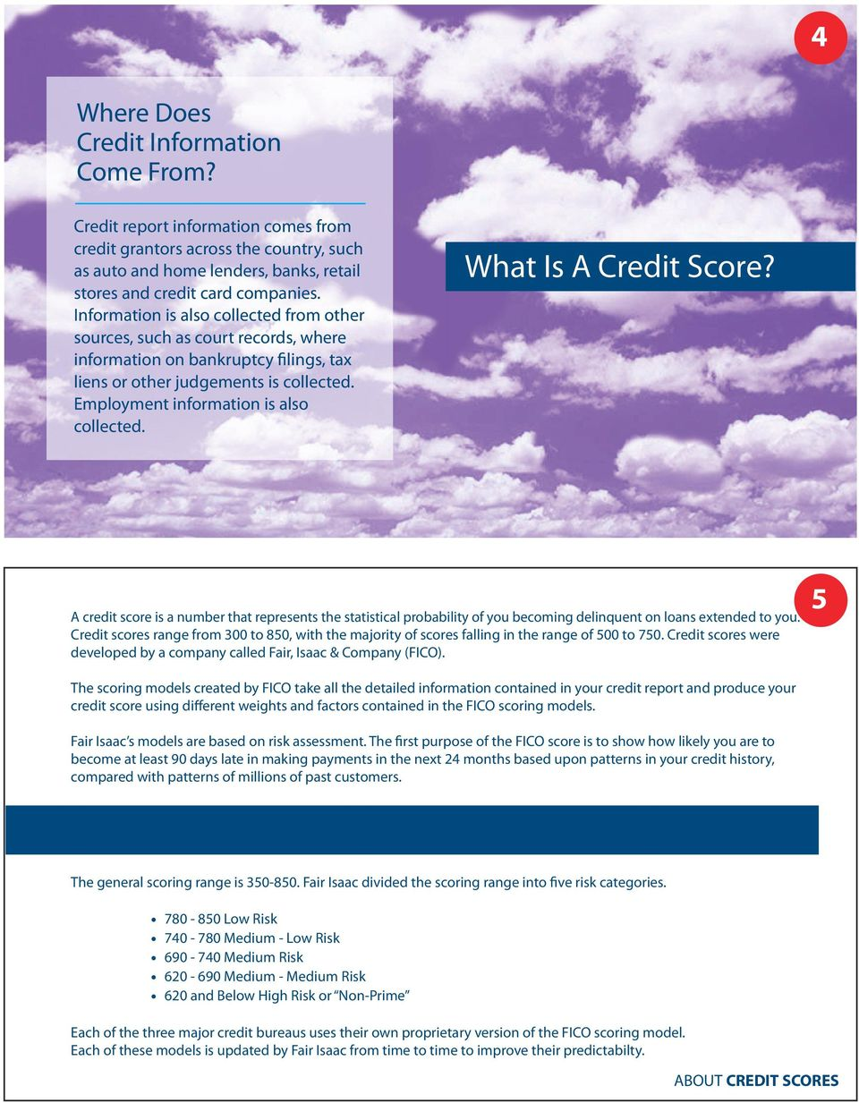 What Is A Credit Score? A credit score is a number that represents the statistical probability of you becoming delinquent on loans extended to you.