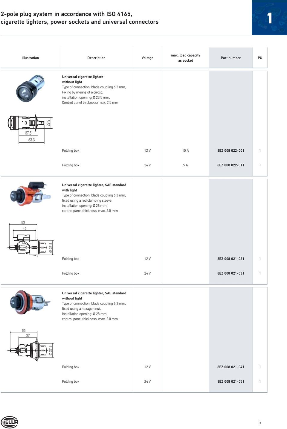 Electrical Plug Type Connections Pdf Tractor 7 Pin Trailer Wiring Diagram With Abs 5 Mm Control Panel Thickness Max 25 229 375 53