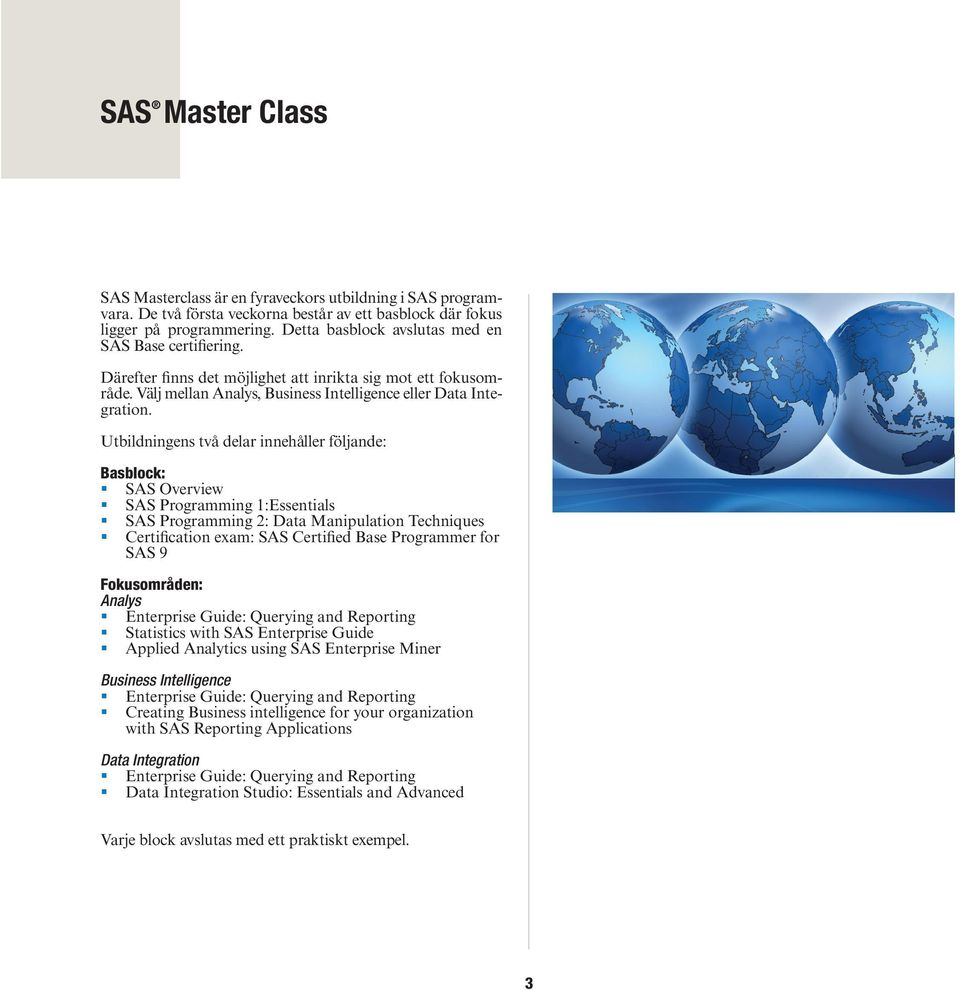 Sas Education Providing Knowledge Through Global Training And