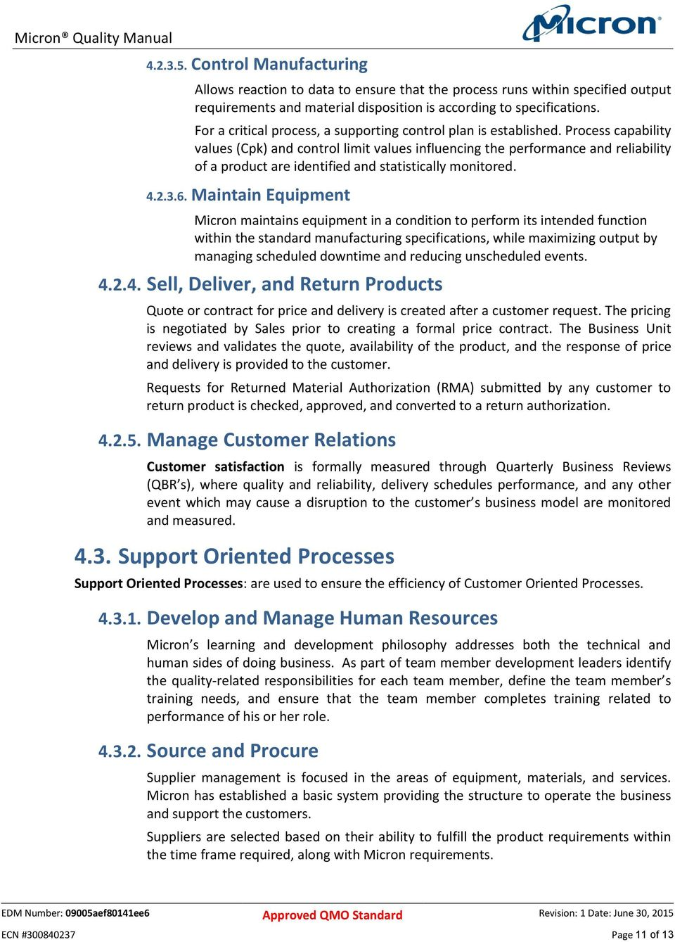 Process capability values (Cpk) and control limit values influencing the  performance and reliability of