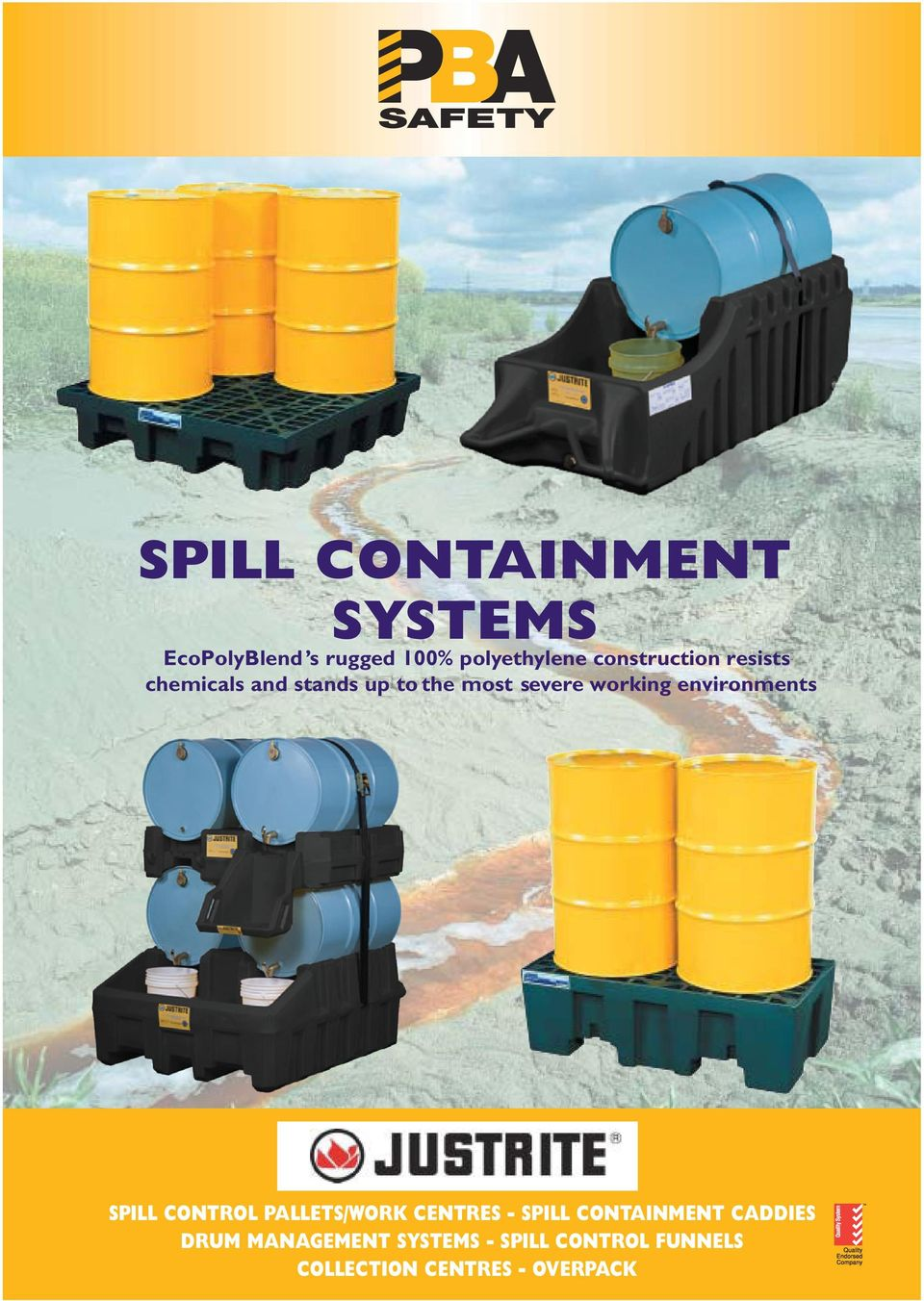 working environments SPILL CONTROL PALLETS/WORK CENTRES SPILL