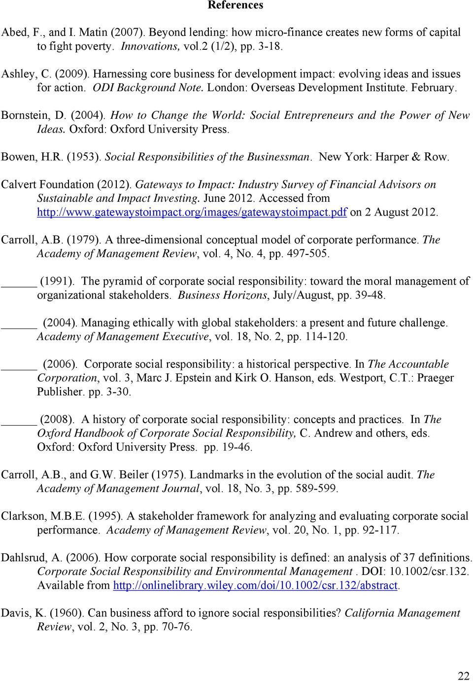 CHAPTER II DEVELOPMENTS IN THE CONCEPT OF CORPORATE SOCIAL