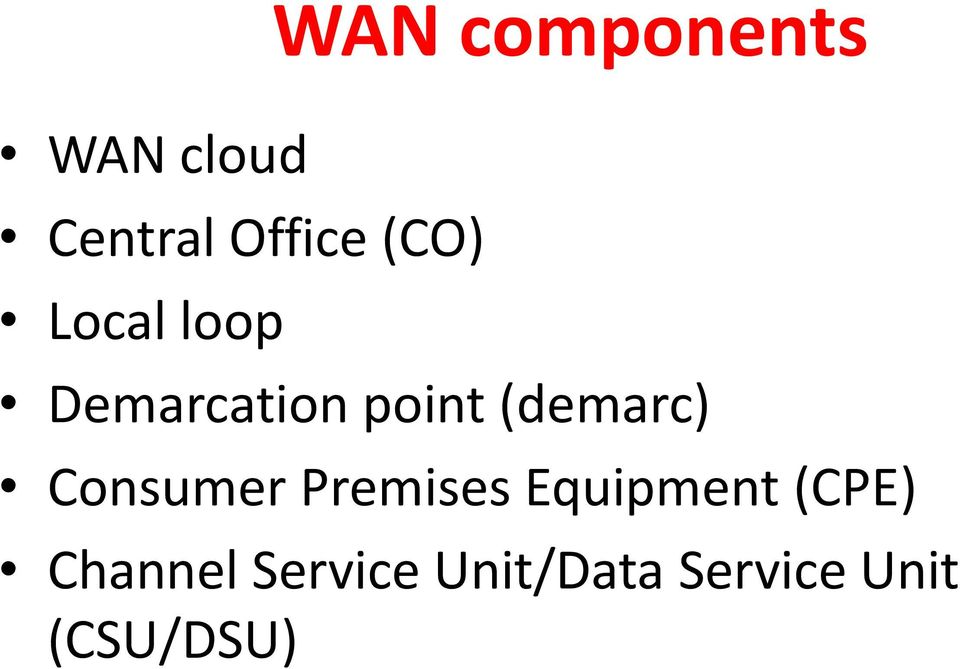 Consumer Premises Equipment (CPE) Channel