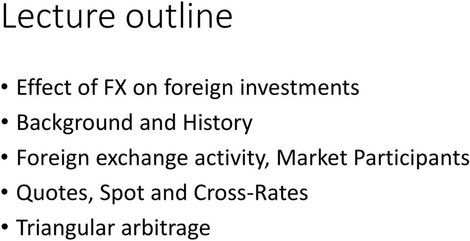 exchange activity, Market Participants