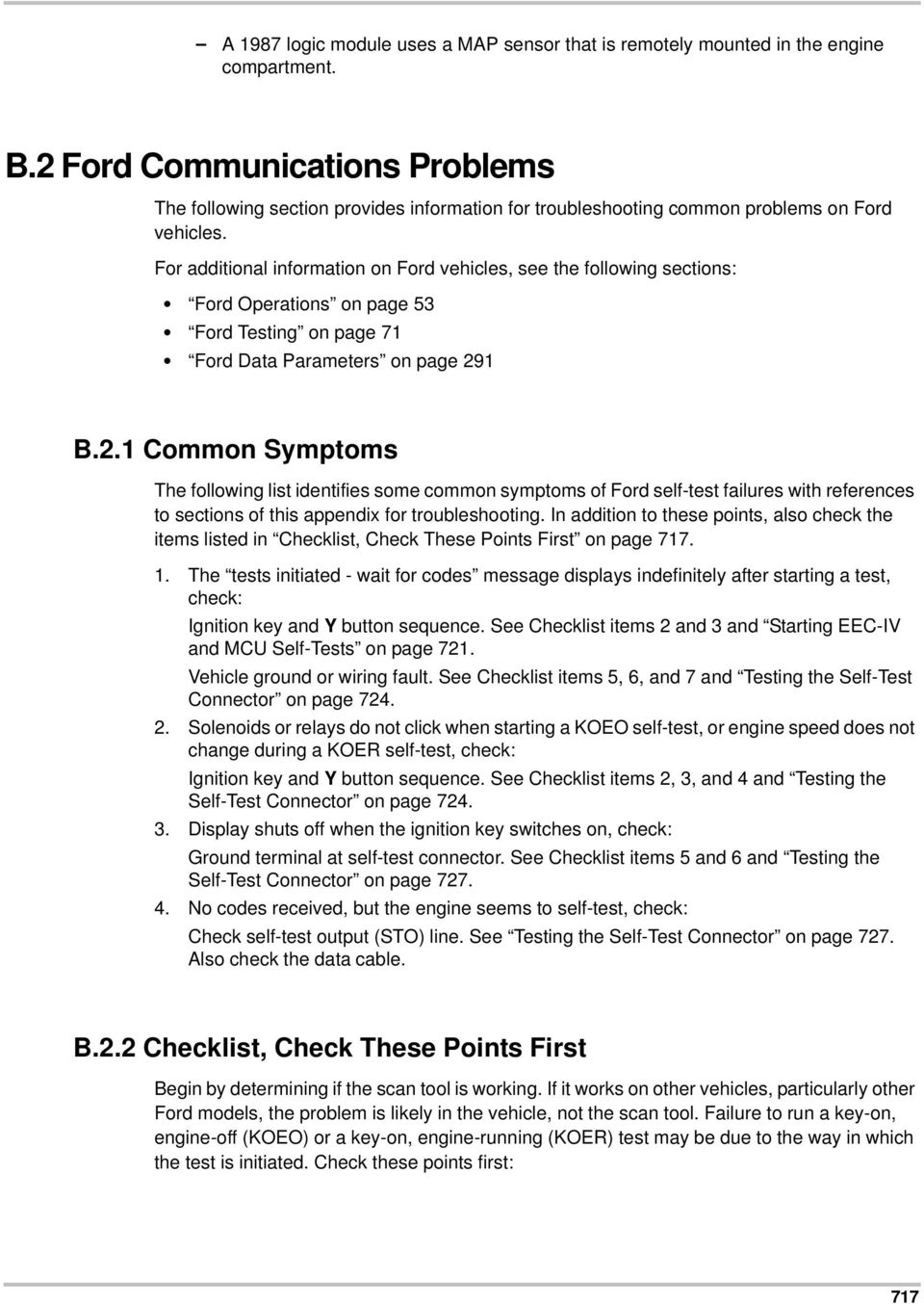 Troubleshooting Appendix B B1 Chrysler Communications Problems Volvo 850 Common For Additional Information On Ford Vehicles See The Following Sections Operations Page