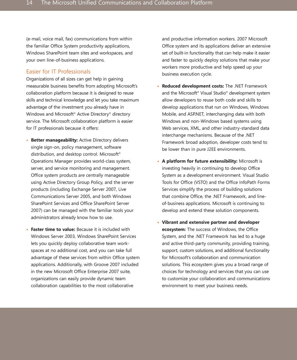 Unified Communications and Collaboration for the Banking Industry - PDF
