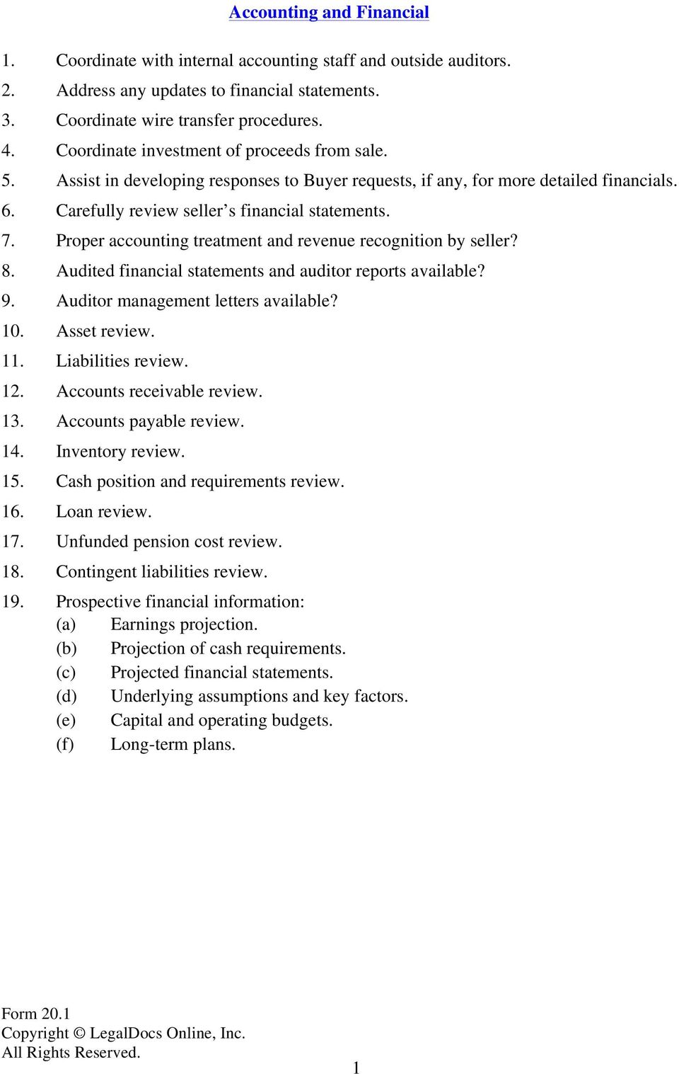 Due Diligence Checklist For Acquisition Of A Private Company Pdf