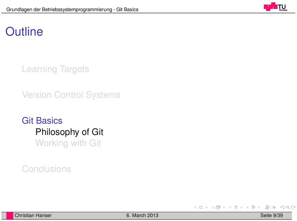Philosophy of Git Working with Git