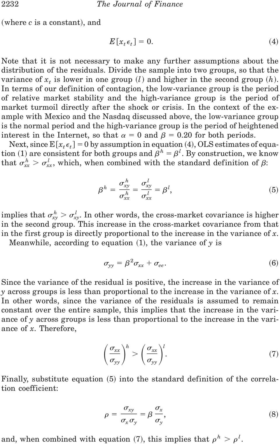 No Contagion Only Interdependence Measuring Stock Market Comovements Pdf Free Download