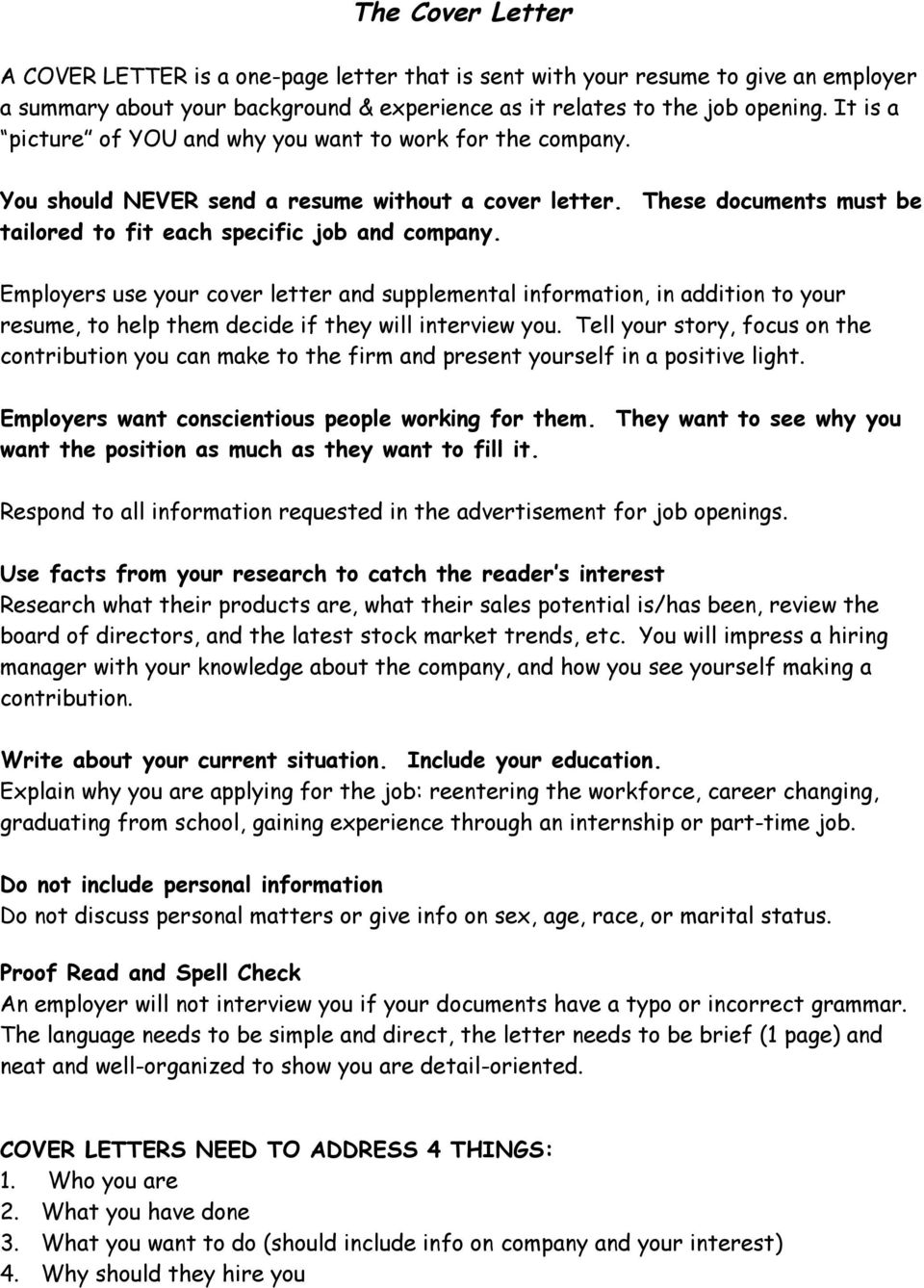 The Cover Letter You Should NEVER Send A Resume Without A