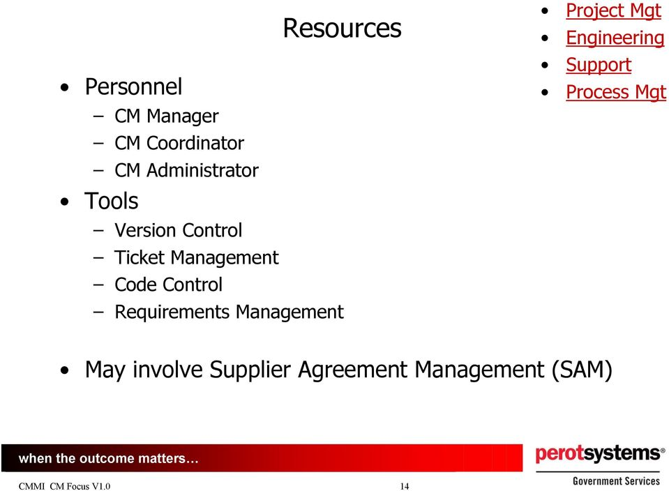 Requirements Management Project Mgt Engineering Support