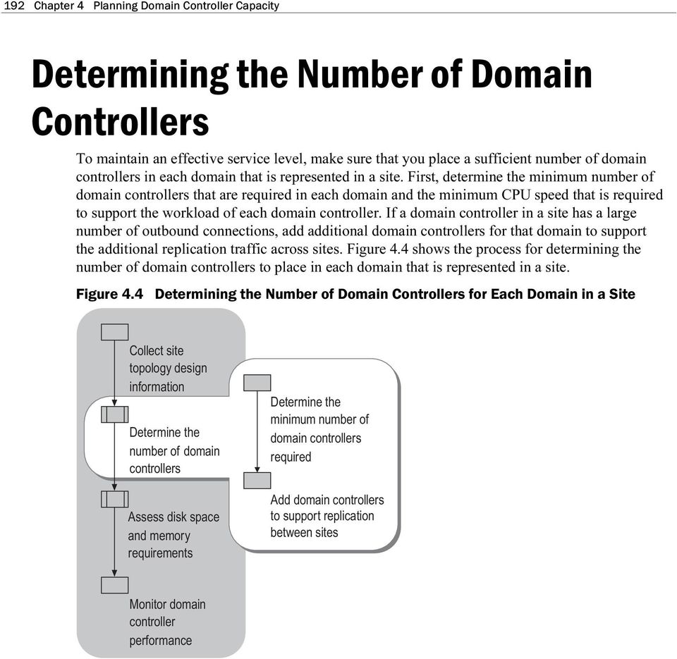 First, determine the minimum number of domain controllers that are required in each domain and the minimum CPU speed that is required to support the workload of each domain controller.