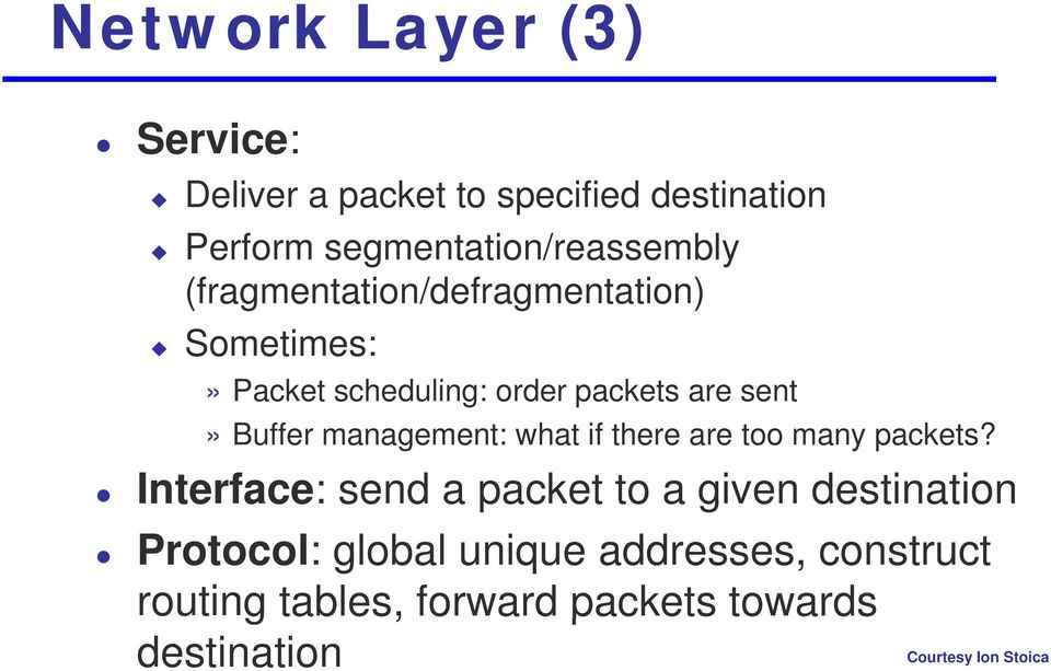 management: what if there are too many packets?