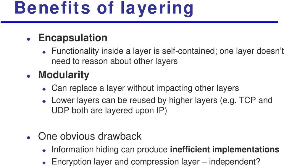 layers can be reused by high