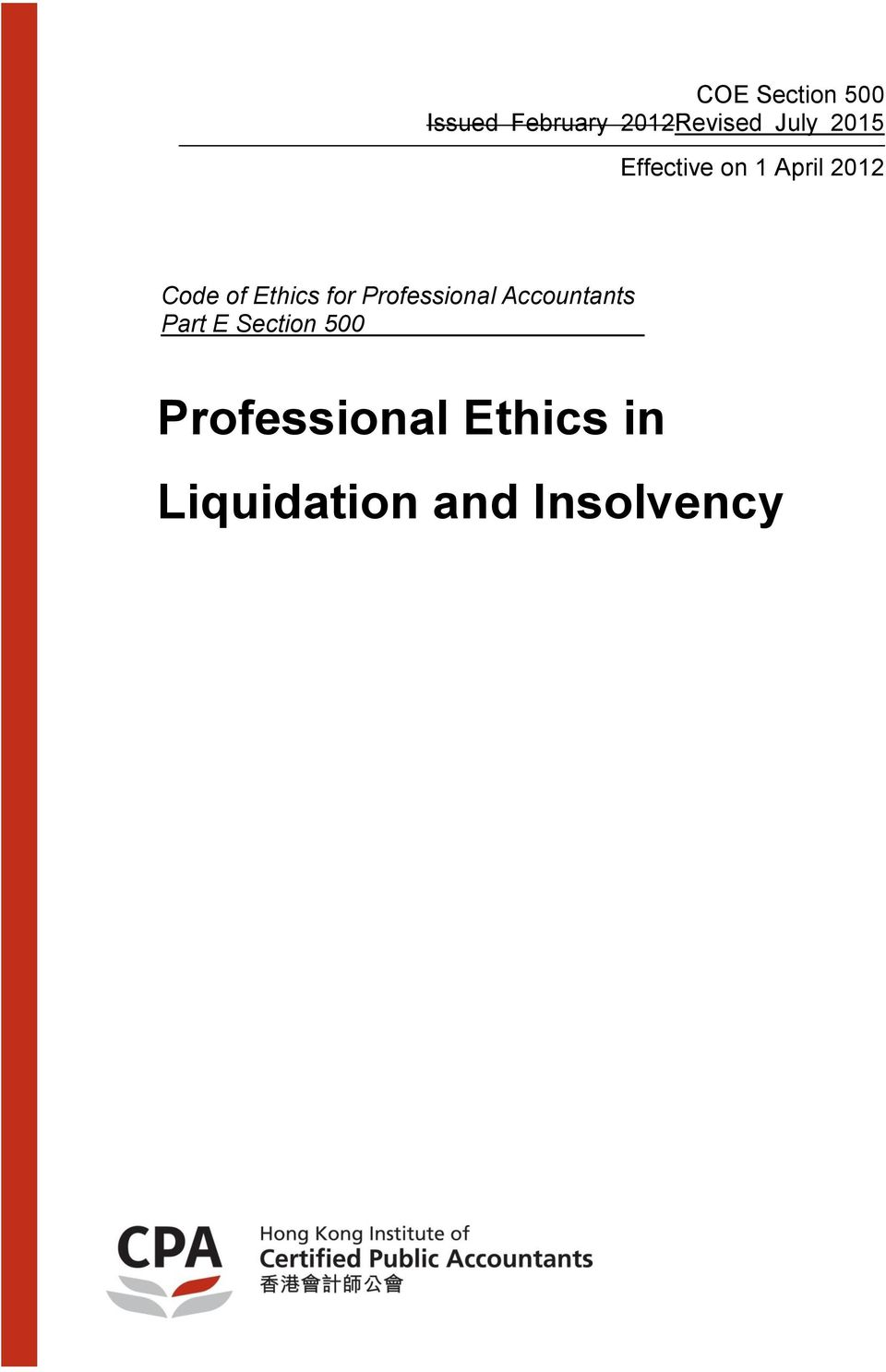 Ethics for Professional Accountants Part E
