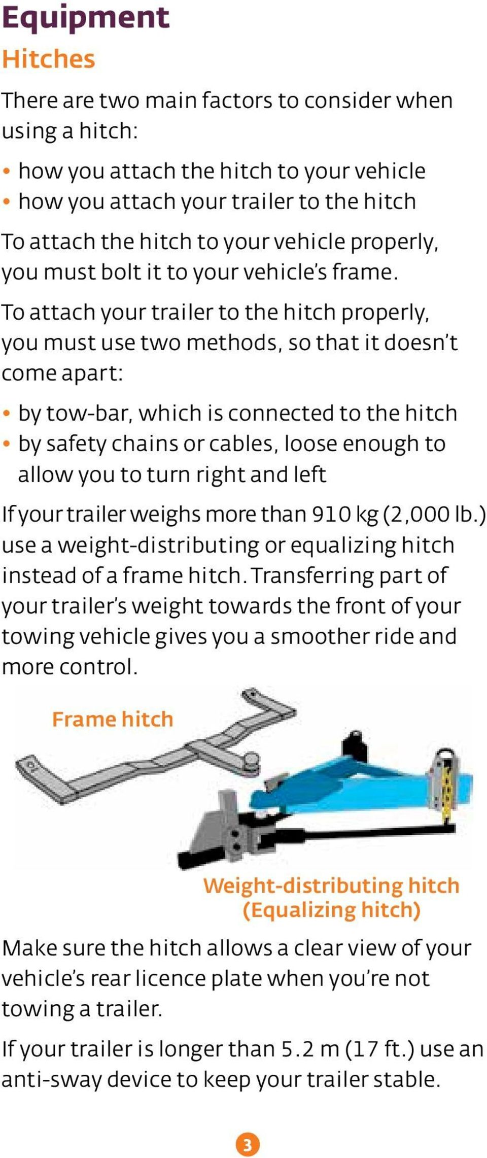 Trailer Safety Required Equipment Maintenance Safe Operation Weightdistributingtrailerhitchdiagramjpg To Attach Your The Hitch Properly You Must Use Two Methods So