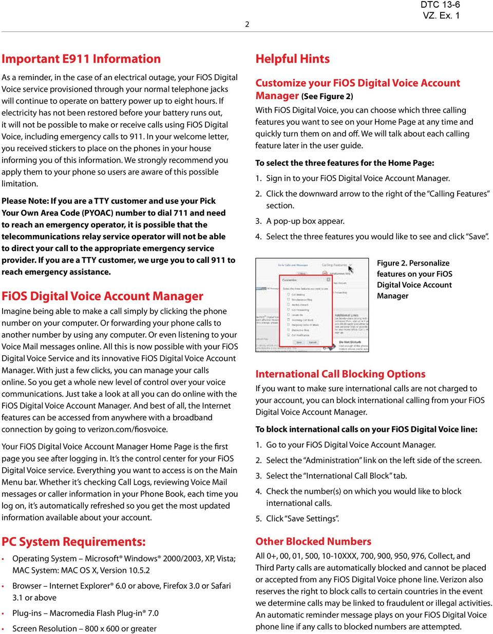 DTC 13-6 VZ  Ex  1  Verizon FioS Digital Voice USer guide - PDF