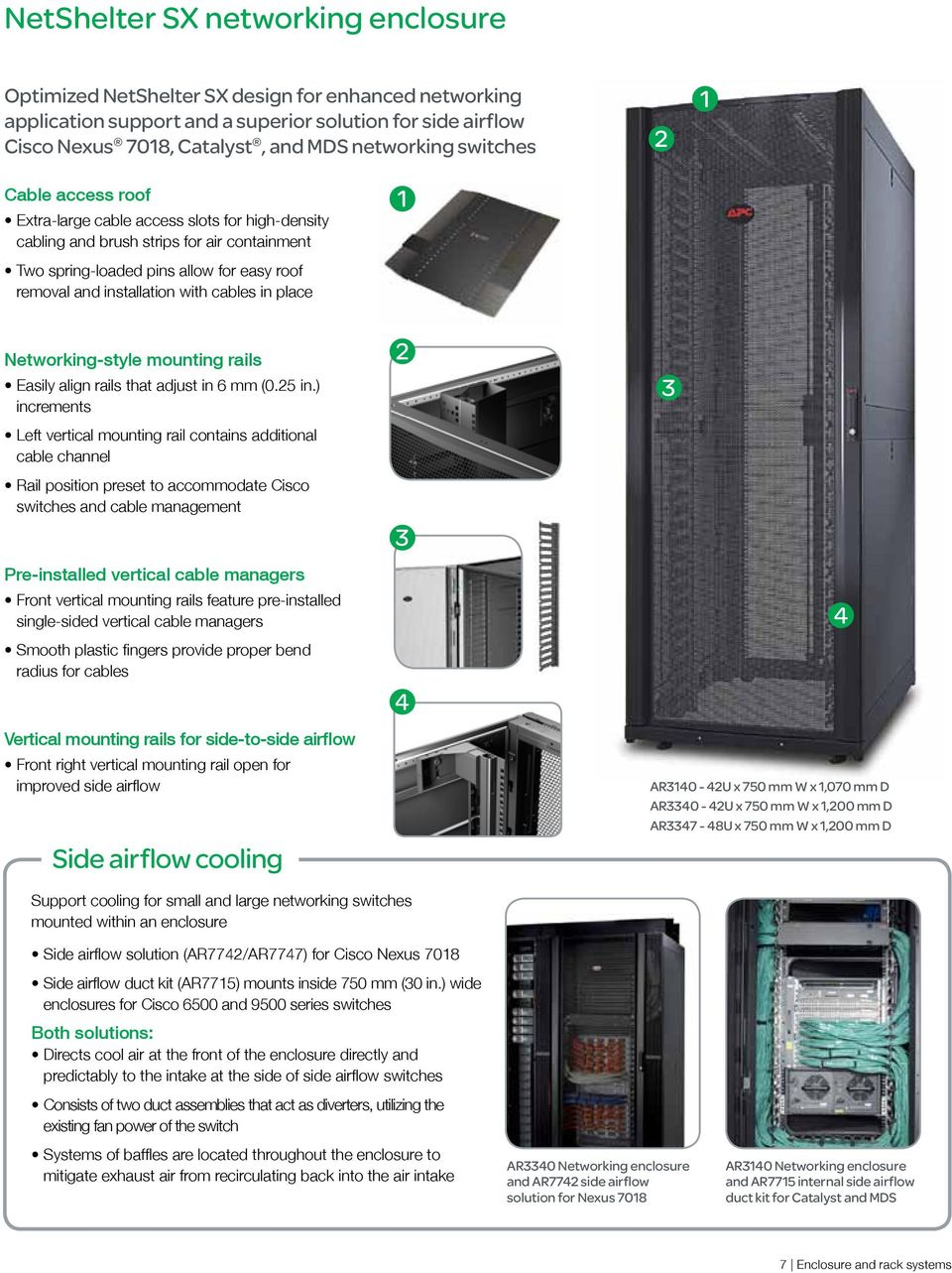 Enclosure And Rack Systems Pdf Wiring Closet Cooling Networking Style Mounting Rails Easily Align That Adjust In 6 Mm 025