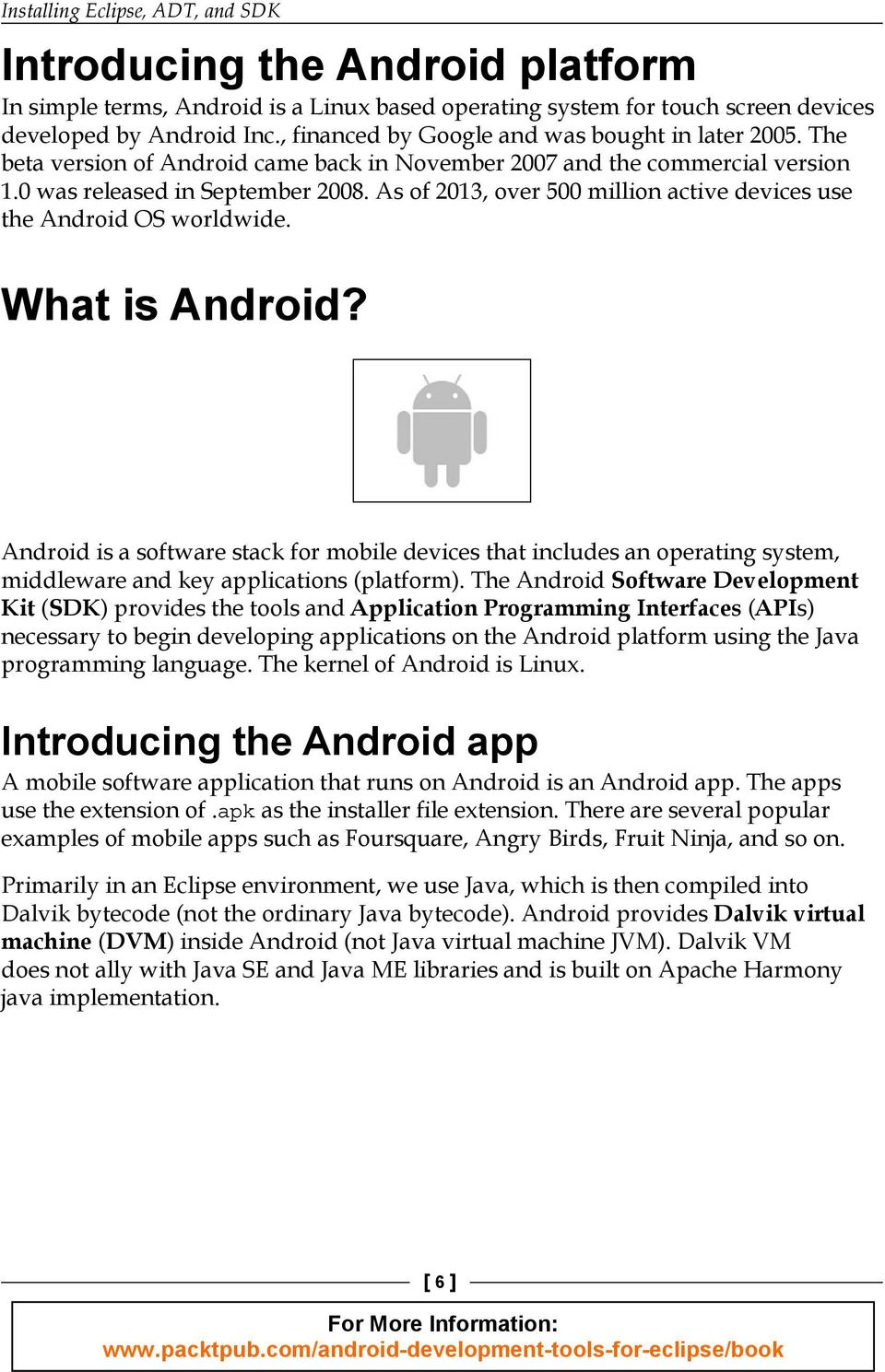 Android Development Tools for Eclipse - PDF