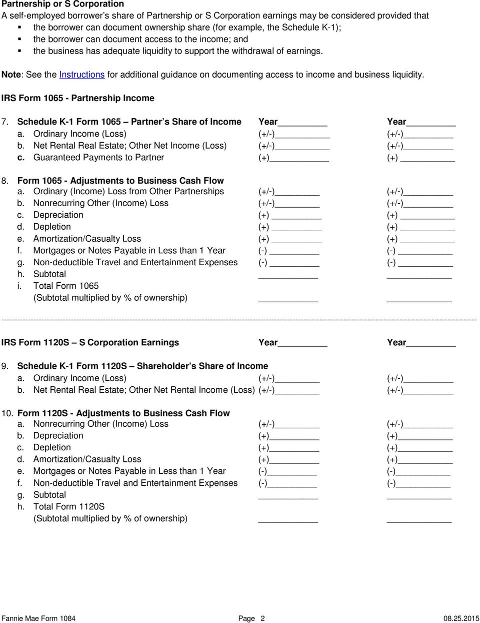 form 1065 rental income  Cash Flow Analysis (Form 10) - PDF Free Download