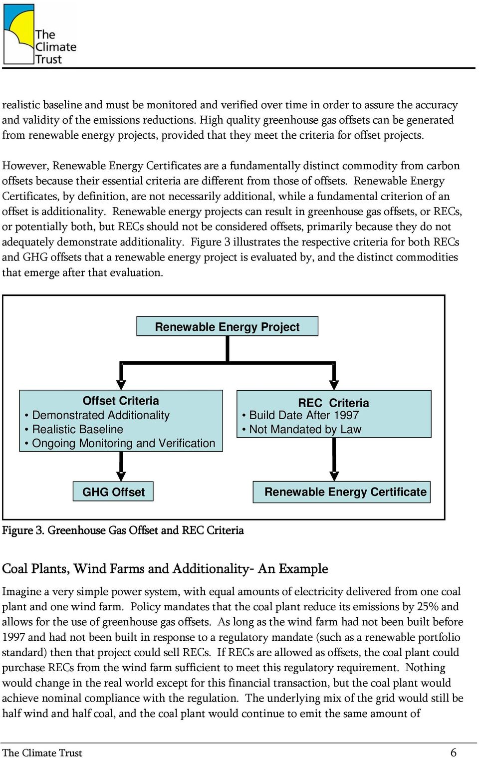 However, Renewable Energy Certificates are a fundamentally distinct commodity from carbon offsets because their essential criteria are different from those of offsets.
