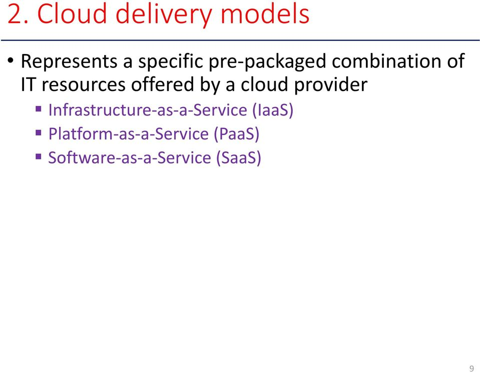 cloud provider Infrastructure as a Service (IaaS)