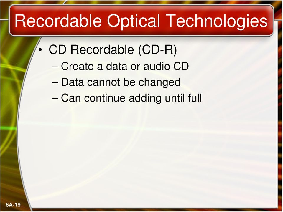 audio CD Data cannot be changed