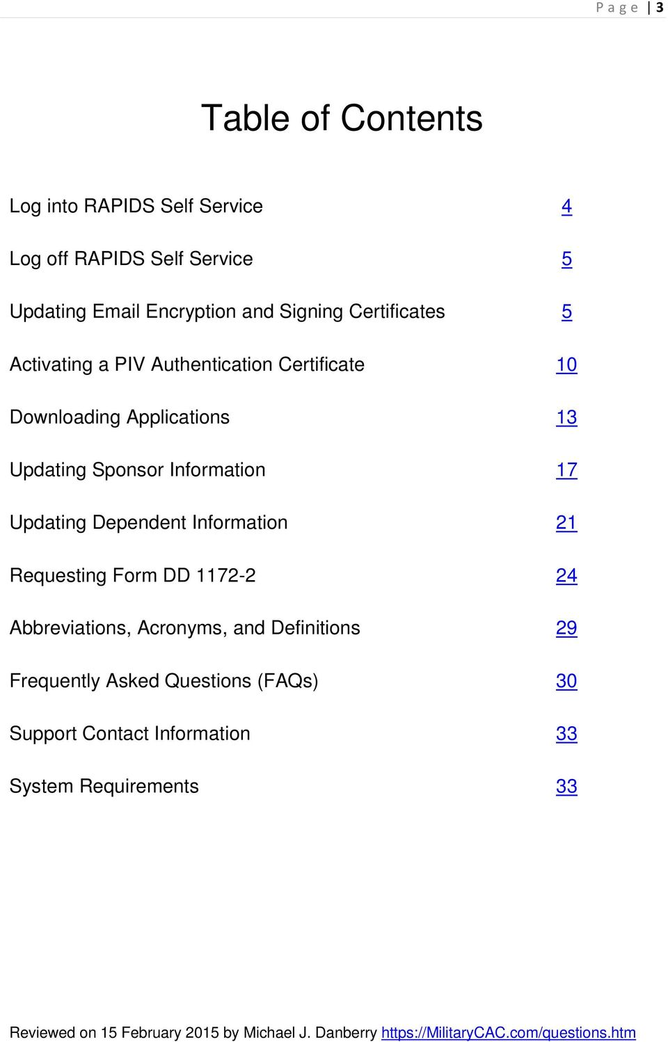 RAPIDS Self Service User Guide - PDF