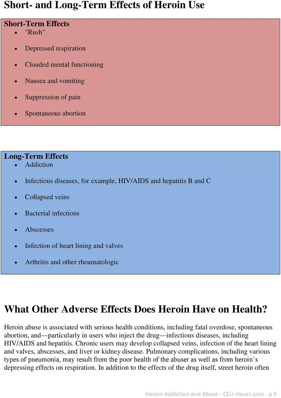 Other Adverse Effects Does Heroin Have on Health?