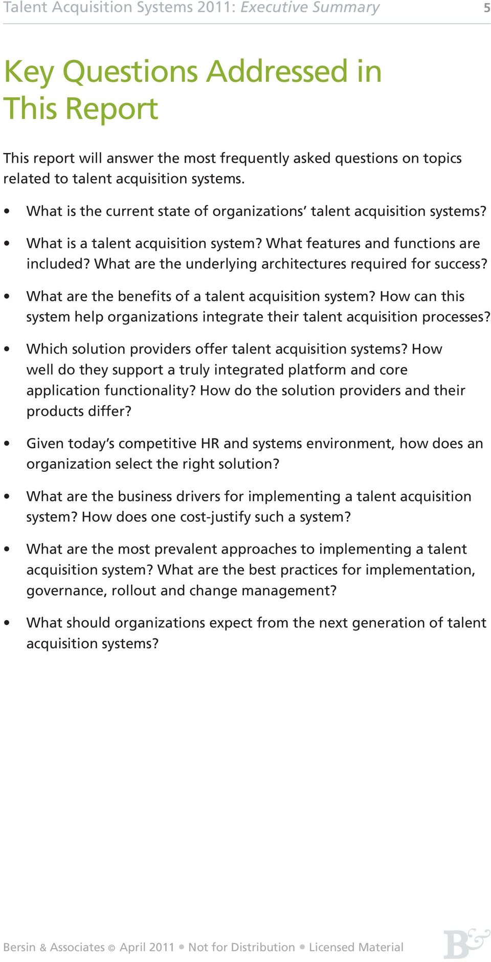 What are the underlying architectures required for success? What are the benefits of a talent acquisition system? How can this system help organizations integrate their talent acquisition processes?