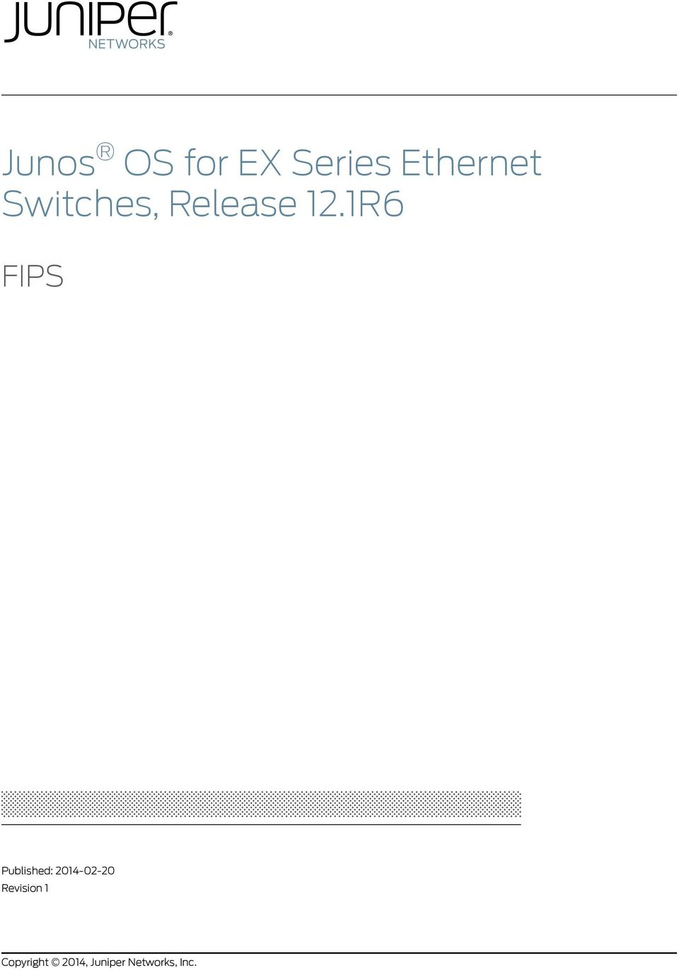Junos OS for EX Series Ethernet Switches, Release 12 1R6 - PDF