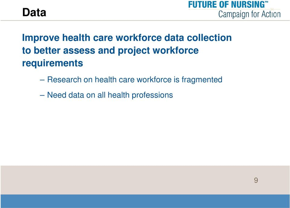 workforce requirements Research on health care