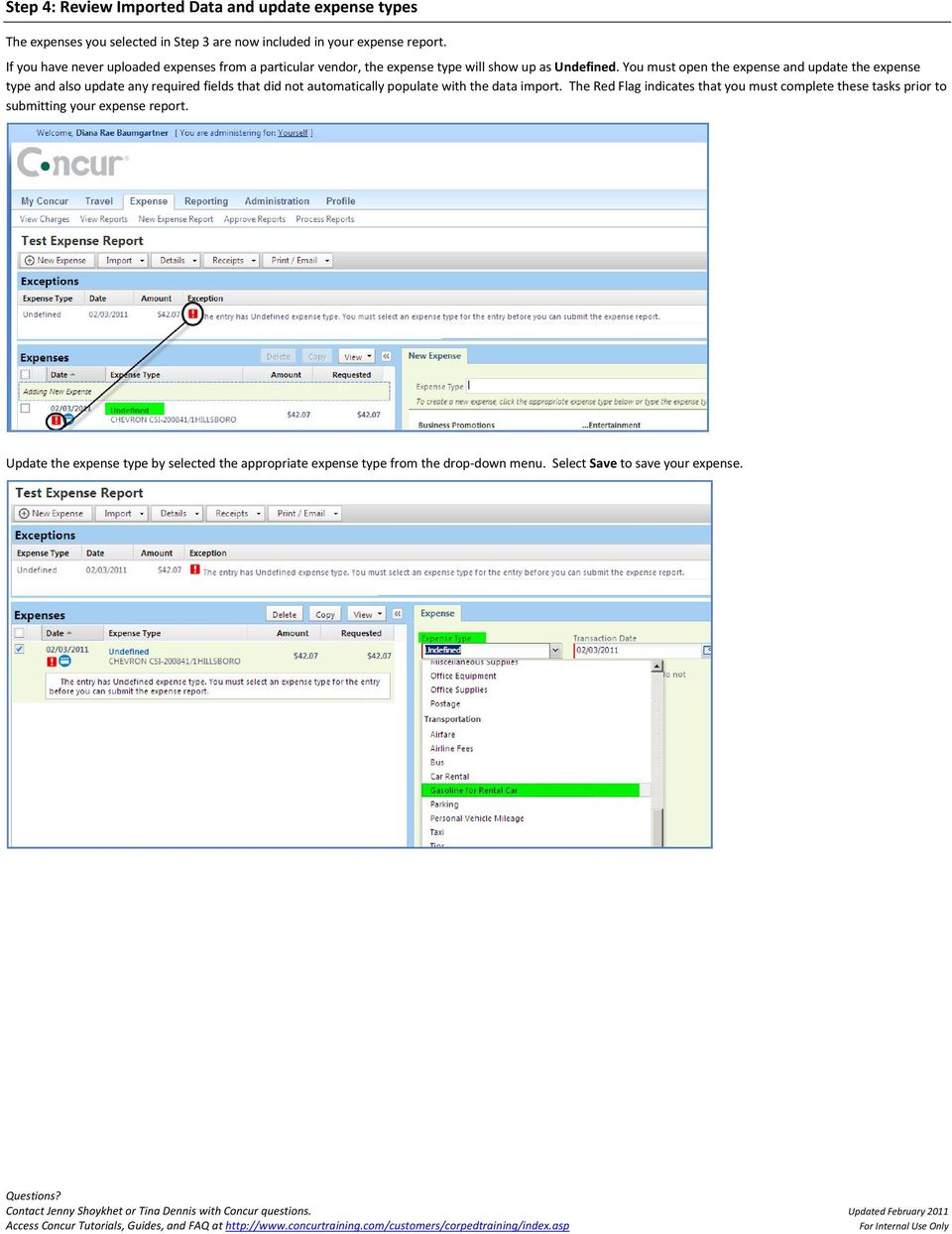Importing Credit Card Expenses into Concur - PDF