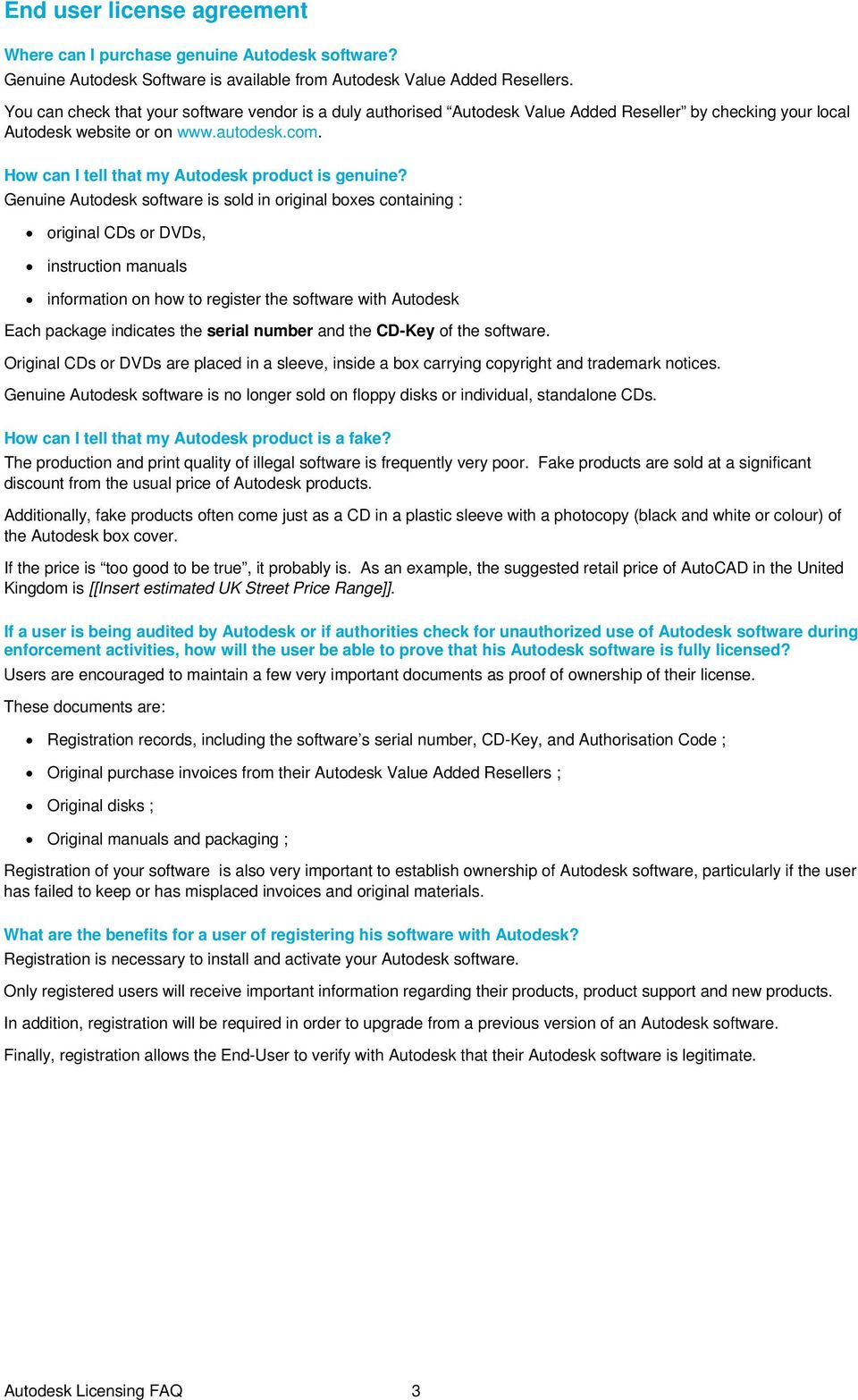 FAQ  Autodesk License Compliance  Version - PDF