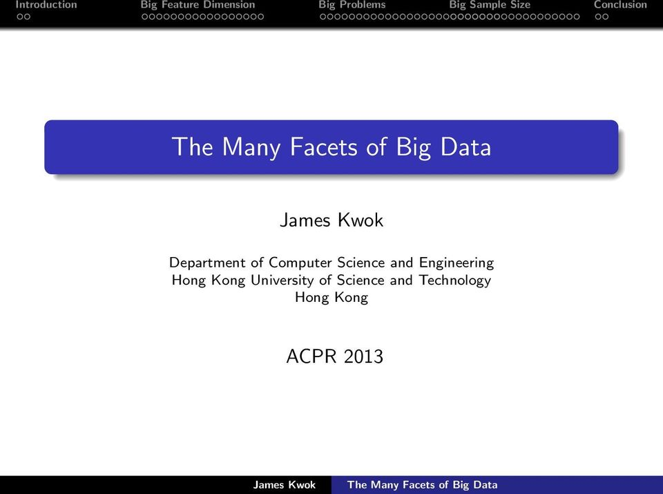 The Many Facets of Big Data - PDF