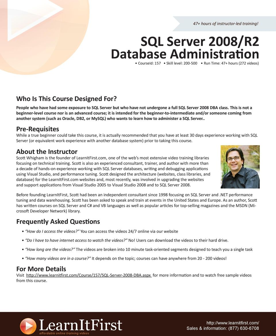 learn how to administer a SQL Server.