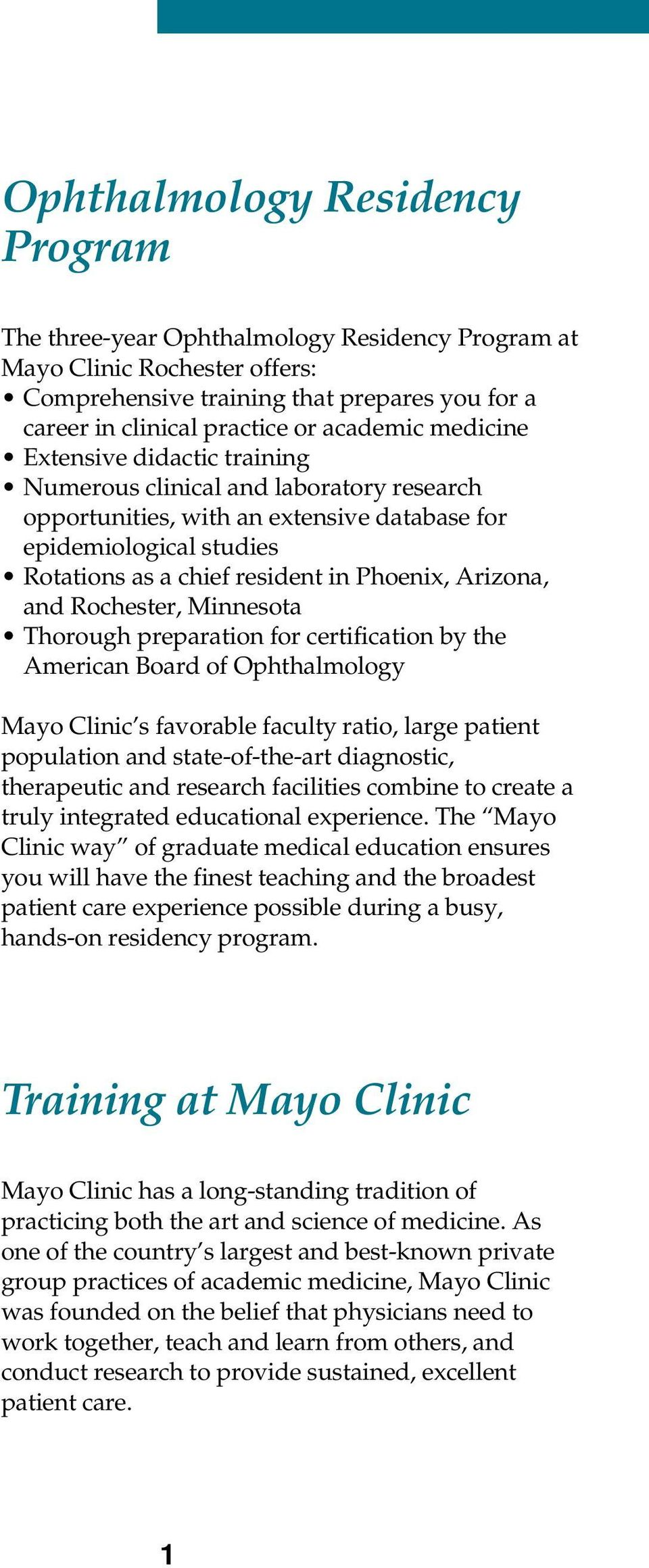 Ophthalmology Residency Program - PDF