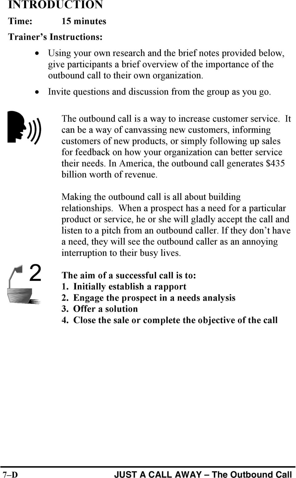 TRAINING LEADER S GUIDE JUST A CALL AWAY - PDF
