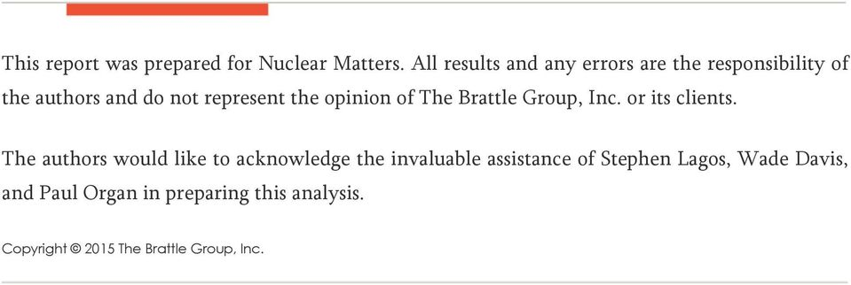 opinion of The Brattle Group, Inc. or its clients.