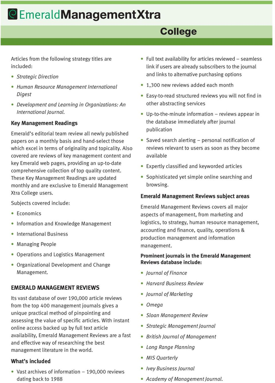 College  The practical online management database for colleges  - PDF