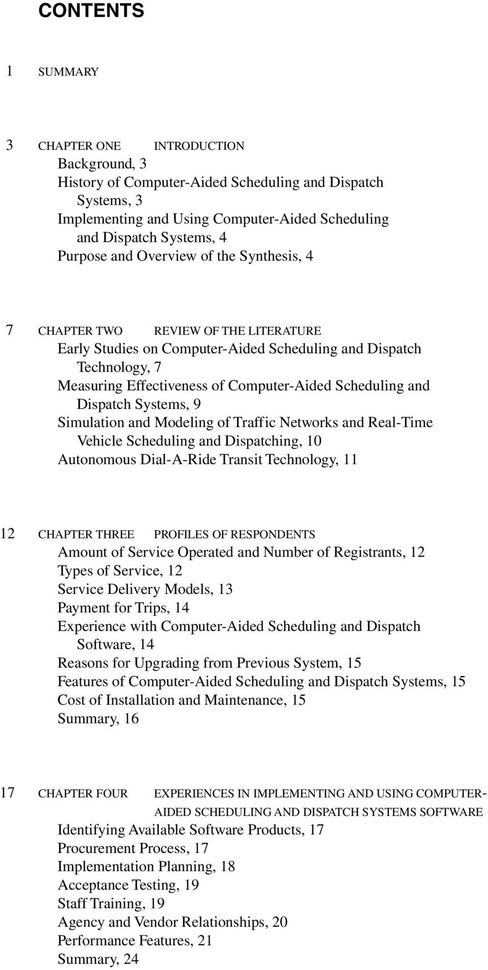 TCRP SYNTHESIS 57  Computer-Aided Scheduling and Dispatch in Demand