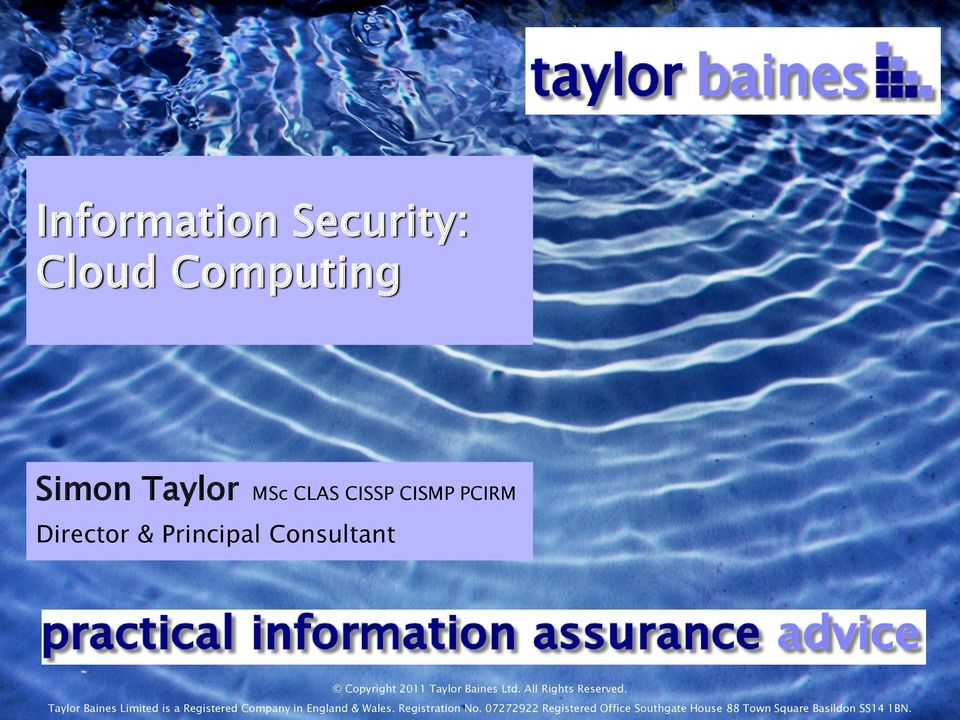 Taylor Baines Limited is a Registered Company in England & Wales.