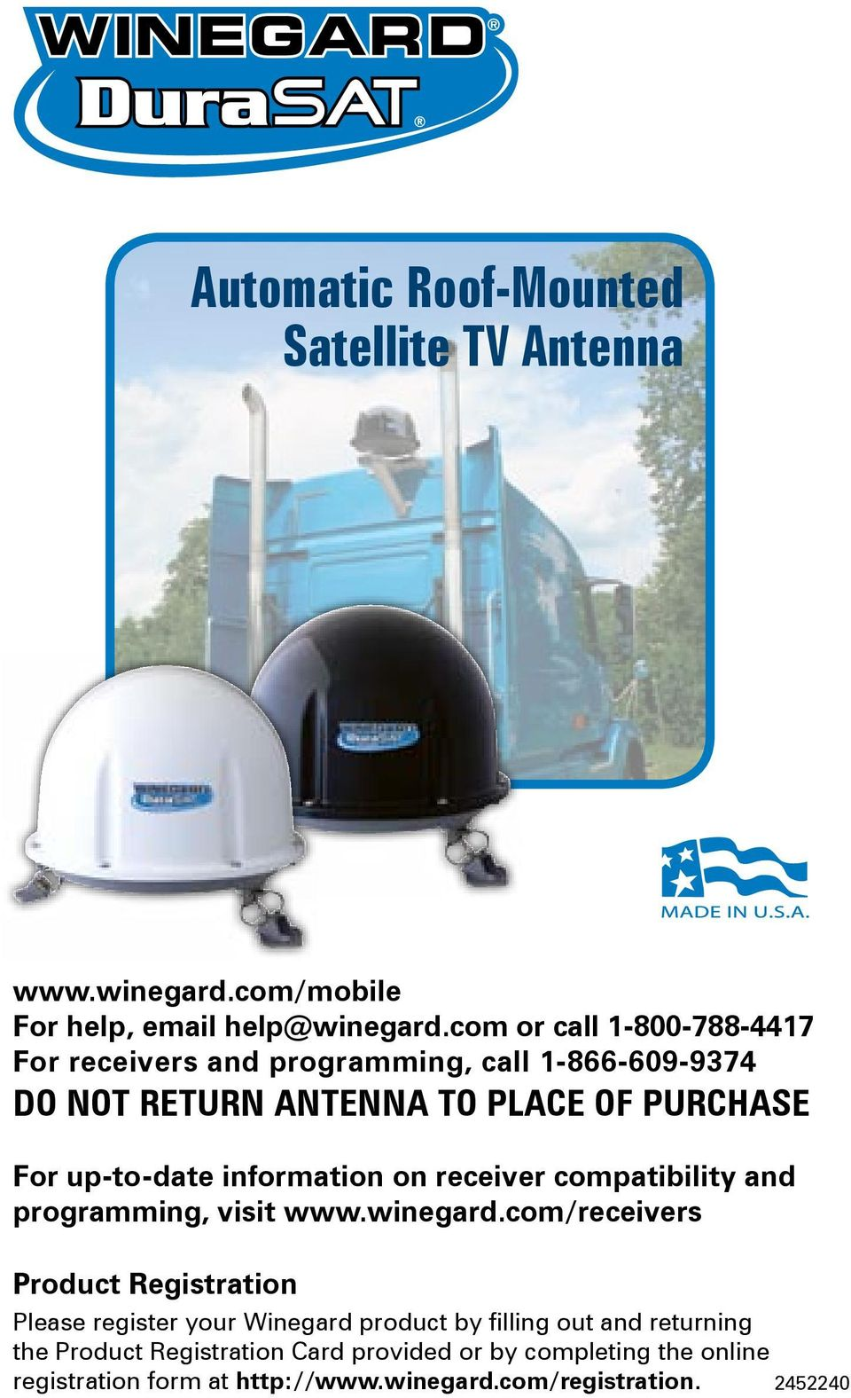 automatic roof-mounted satellite tv antenna - pdf