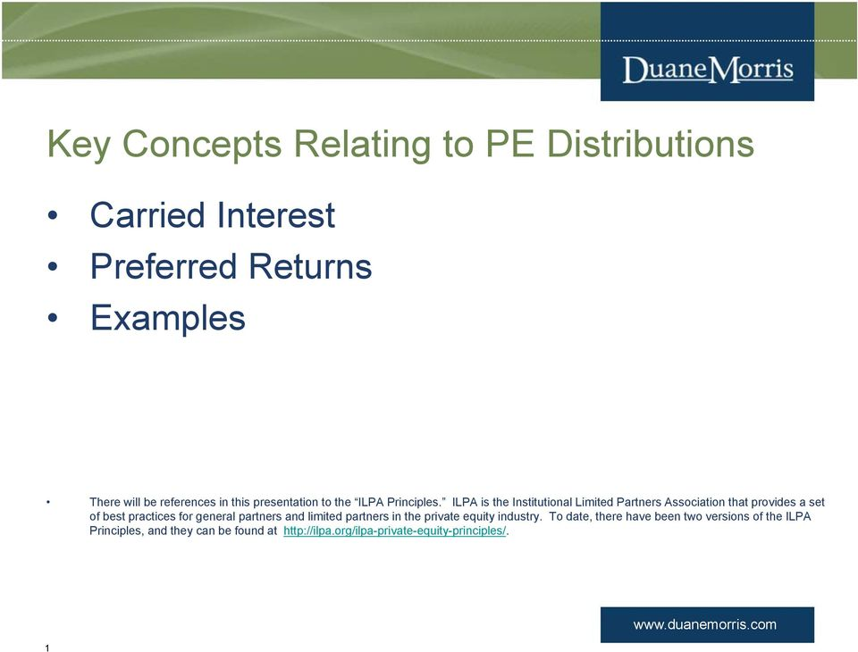 Private Equity Fund Distribution Waterfalls - PDF