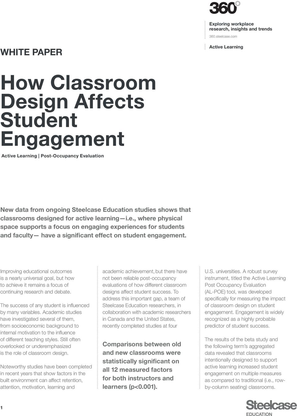 How Classroom Design Affects Student Engagement - PDF