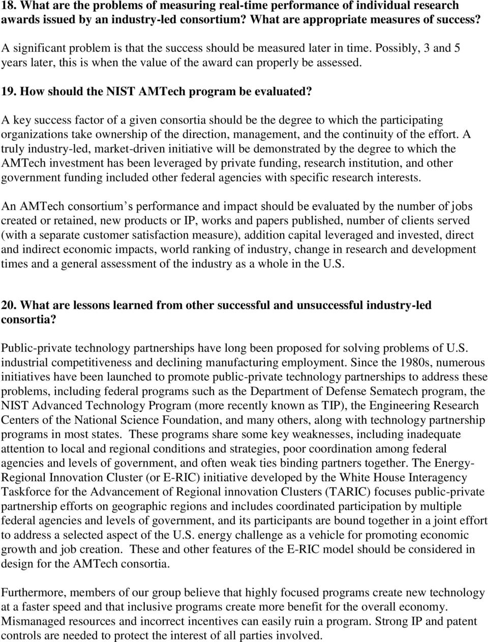 How should the NIST AMTech program be evaluated?