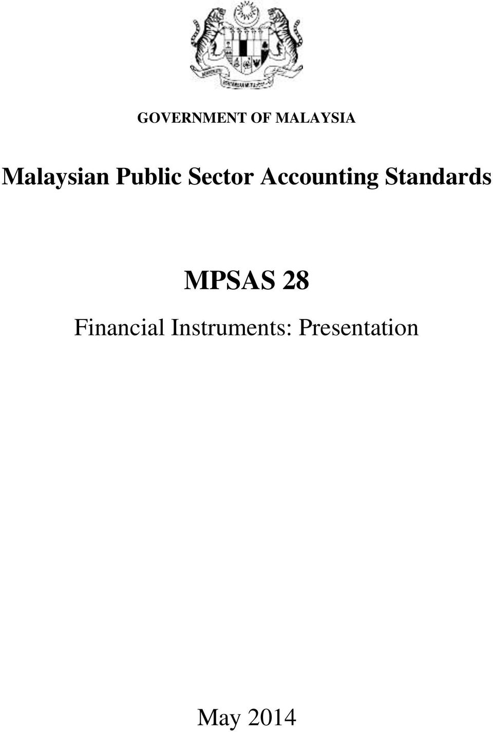 Accounting Standards MPSAS 28