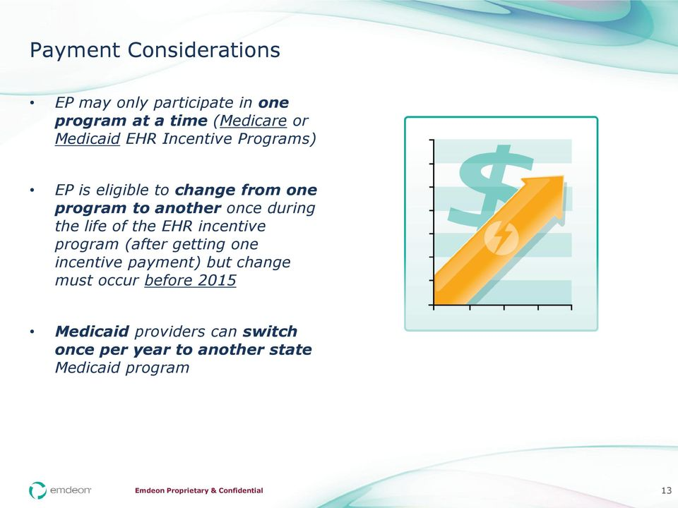 life of the EHR incentive program (after getting one incentive payment) but change must occur