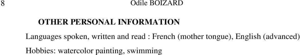 and read : French (mother tongue),
